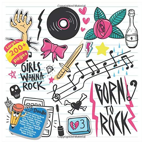 ook Born to Rock Girls Wanna Rock, Dinosaur, Dog, Toddler, Tattoo, Sports, Forest, Troll, Rabbit, Moon, Traveling, Puppy, Penguin, ... Wanna Rock and others Doodle Book, Band 1) ()