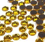 Perlin - Hotfix Strasssteine, 5760stk, Gold, 4mm SS16 AAA Qualität, 40 Gross, zum Aufbügeln, Hotglue, Glitzersteine Rhinestone Großhandel Glass Strass Perlen 418 x2