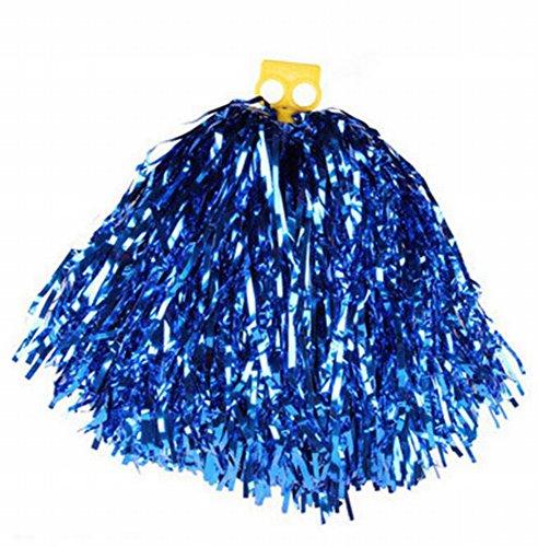 buydirect Cheerleading Pom Poms Bälle jemals Hand Blumen Party passend zu Kostüm Zubehör 2Stück, (Ball Spieler Halloween Kostüm)