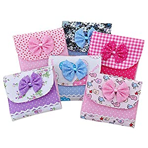Pu Ran® Sanitary Holder Bowknot Sanitary Towel Napkin Pad Case Girl Organizer