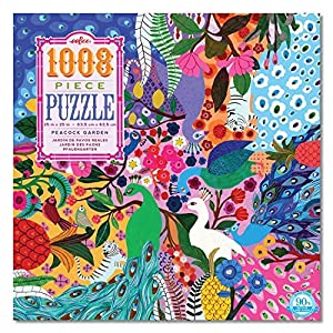eeBoo-Puzzle 1008Piezas-el jardín de los paons