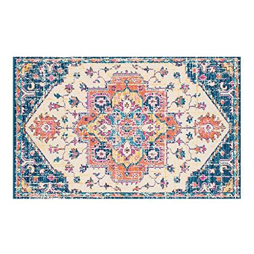 OLLY Teppiche Teppich Retro Landhausstil Teppiche Fußmatten Teppich Anti-Rutsch Waschbar Für Schlafzimmer Gang Balkon Flur Läufer 6mm X (Color : E, Size : 80X160CM)