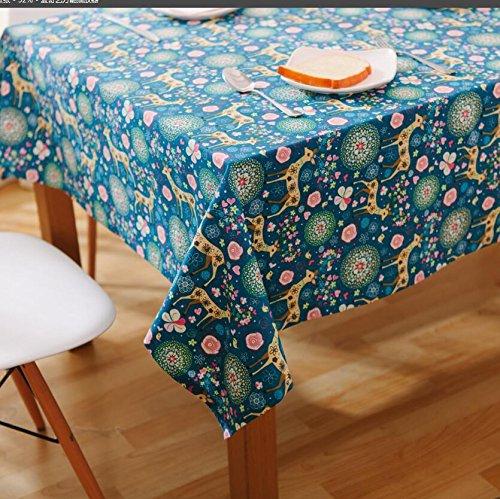 suihua-tela-venado-azul-nostalgia-nostalgia-floral-paisaje-natural-te-mantel-mantel-de-tela50-65cm