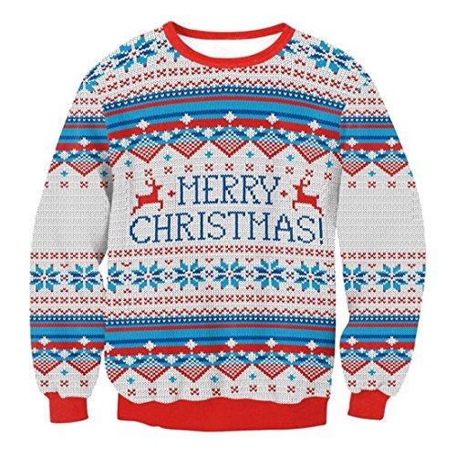 Preisvergleich Produktbild Herren Pullover Btruely Winter Männer Jacke Langarm Mantel Männer Weihnachten Sweatshirt Outwear (L,  Grau)