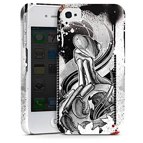 Apple iPhone X Silikon Hülle Case Schutzhülle Tattoo Rock n Roll Style Premium Case glänzend