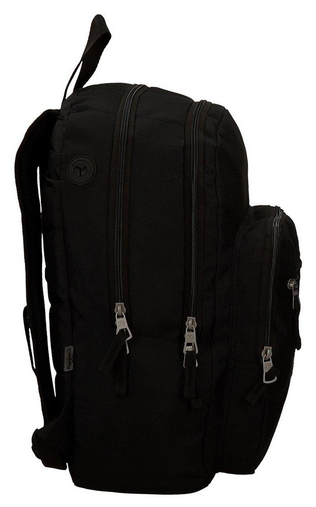 61SBmv1teyL - Pepe Jeans Harlow Mochila Escolar, 42 cm, 19.44 litros, Negro
