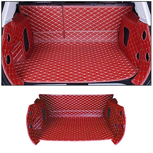 SHUNAN-EU Auto Leder Kofferraum Matte Teppiche Matte Exklusiv für Corolla 10-16 SeitenBodenbedeckung Allwetterschutz, Wasserdichtes, Anti Rutsch Abriebfest Set Red (Matte Kofferraum Corolla)