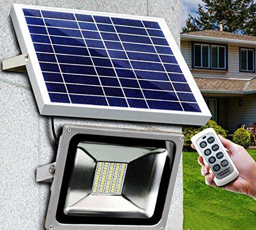LED Solarleuchte Solarbetriebene Gartenleuchte Dimmbar Fernbedienungskontrolle Energie sparende Solarlampe Weiß Wasserdicht Außenleuchte IP65 Bodeneinbauleuchte für Outdoor Garten