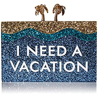 kate spade new york Breath of Fresh Air I Need A Vacation Convertible Clutch, Multi, One Size