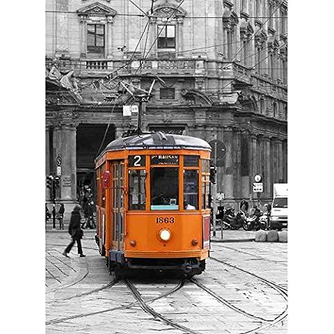 Mostra d' arte 60x 40cm–Arancione