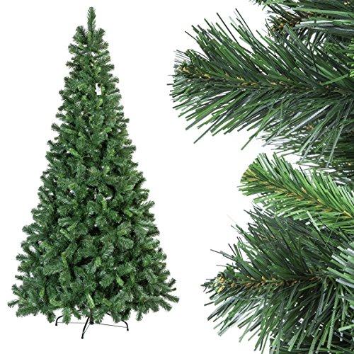 Fairytrees albero di natale artificiale pino tirolese con piedistallo in metallo materiale pvc 250 cm, ft22-250