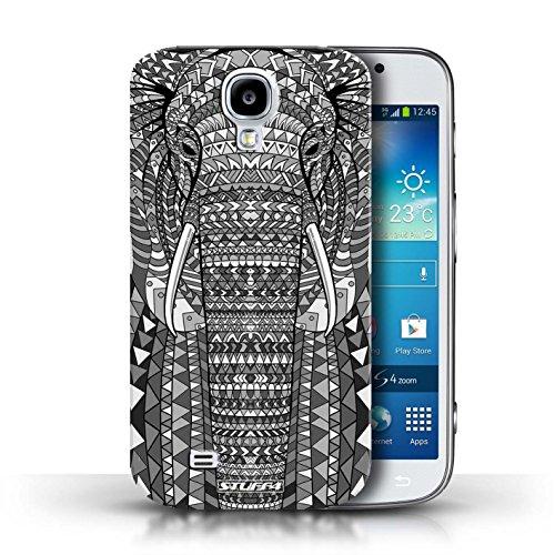 Coque en plastique pour Samsung Galaxy S4/SIV Collection Motif Animaux Aztec - Tigre-Mono éléphant-Mono