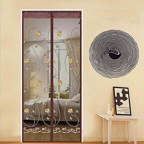 Türen mit magneten bildschirm,Türen für häuser bildschirm Velcro magnetische tür siebgewebe Magic stickers Der moskito Haushalt Wohnzimmer Schlafzimmer Hohe denisity Vorhang Gardinen-A 99x205cm(39x81inch)