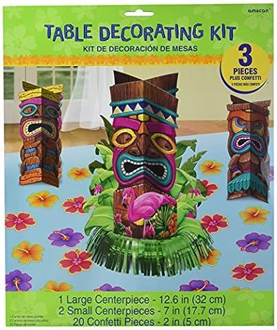 Tischaufsteller Tiki Totem Hawaii Tisch-Deko 23tlg.