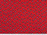 Baumwolldruck mit Piraten, Kinderstoff, rot, 140cm