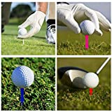 Xunlong Castle Golf Tees Step Down Plastic Golf Tees 50 Pack 4 Sizes (41mm, 54mm, 68mm, 78mm)