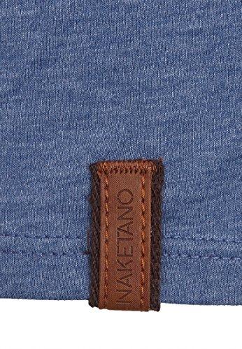 Naketano Male T-Shirt Italienischer Hengst Blue Melange