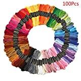 Kit point de croix fils crochet, Koly 100 kit broderie fils a broder Multicolores Pour Broderie Point de Croix Tricotage Bracelets Brésiliens
