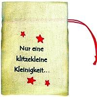 Preisvergleich für Jutesack Nur eine klitzekleine Kleinigkeit, ca. 11 x 15,5 cm