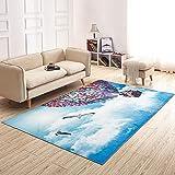 MAFYU Qualität Teppich 3D Druck Teppich niedlichen Kinder Wohnzimmer Boden Matte 120 * 180cm