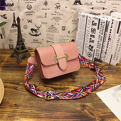Fyyzg Schultertasche Messenger Jelly Trendy Summer Small Square Schultertasche Messenger Broadband Ribbon Small Bag Pink Trumpet (Ribbon Pink Sonnenbrille)