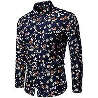 ¡Gran promoción!Camisas de Hombre Rovinci Camuflaje Hermoso de la Solapa Floral patrón geométrico Impreso Moda Casual impresión de Manga Larga Blusas Tops