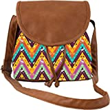 Snoogg Aztec Abstract Casual Spacious MultiPurpose Women Sling Bag Carry Around