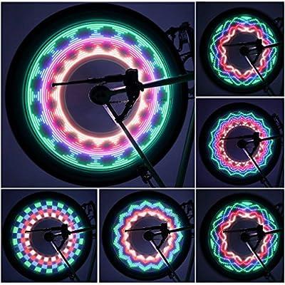 Fahrrad Felge Lichter-Ultrahelle Wasserdicht LEDs?32 Vollfarbige mit Hunderten Kombinationsmöglichkeiten Top