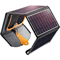 Solarpanel-Ladegerät, 22W Dual USB Tragbares Solarpanel Smartphone Faltbar Panel Ladegerät Wasserdicht für Smartphones…