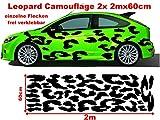Leo Leopard 2x 2m Camouflage Camo einzelne Flecken Autoaufkleber Aufkleber Sticker Folie Style Bodystyle Karosserieaufkleber Karosseriefolie