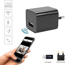 PUAroom Mini Wireless WIFI HD 1080P Indoor Hause P2P Sicherheit Überwachungskamera mit Bewegungserkennung Alarmmeldung und Fernbedienung Funktion für iPhone / Android Phone (Max Unterstützung 128G TF-Karte, nicht enthalten)