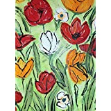 Frühling-Acryl-Unikat-50x70-cm-Leinwand-Keilrahmen-(c)-mariso
