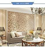 HEYUN& Vliestapete Tapete Schlafzimmer Wohnzimmer im europäischen Stil rot schwarz Tapete TV Kulisse wasserdichte Videowand 3d ( Color : Coffee gold )