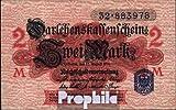 Deutsches Reich Rosenbg: 52d (c), blaues Siegel gebraucht (III) 1914 2 Mark (Banknoten für Sammler)