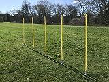 GymAdvisor Pro Training Spring Loaded Slalom Stangen 150cm/150(H) Agility Marker Bohrer Speed Jump Slalom Sport Fußball 5x