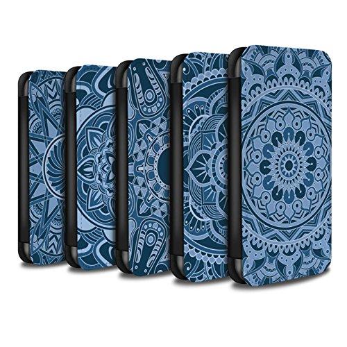 Stuff4 Coque/Etui/Housse Cuir PU Case/Cover pour Apple iPhone X/10 / Floral/Sépia Design / Art Mandala Collection Pack 15pcs