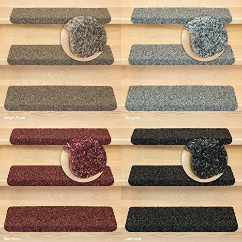 Stufenmatten Merlin - Nadelvlies I Rechteckig in versch. Farben als Set & Einzeln I15 Stück Anthrazit