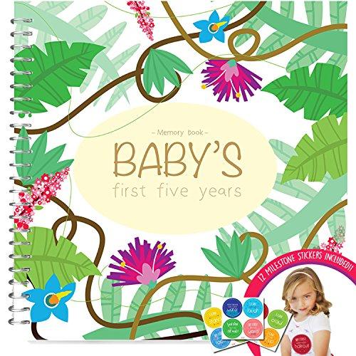 memoria-libro-pegatinas-incondicional-rosie-bebe-nina-de-primeros-cinco-anos-libro-de-registro-con-1