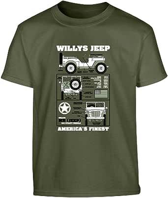 Kombat UK Children's Willys Jeep T-Shirt