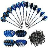 GWHOLE Set di 12 Freccette Morbide (18G) con 16 Freccette e 200 Punte Morbide di Freccette per Bersaglio Elettronico