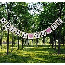 Veewon Bride To Be Hochzeit Bunting Fahnen Schilder Brautparty Garland Bachelorette Party Dekorationen