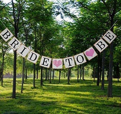 ochzeit Bunting Fahnen Schilder Brautparty Garland Bachelorette Party Dekorationen ()
