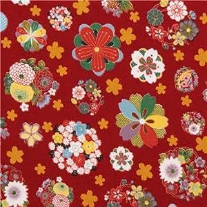 tessuto rosso fiori bouquet Asia dal Giappone
