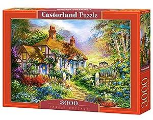 Castorland Forrest Cottage 3000 pcs Puzzle - Rompecabezas (Puzzle Rompecabezas, Hada, Niños y Adultos, Niño/niña, 9 año(s), Interior)