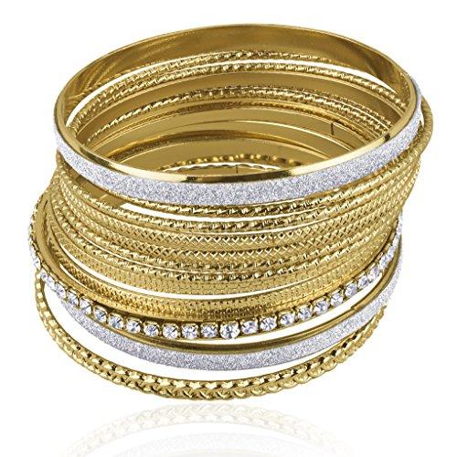 lux-zubehr-pav-strukturierte-mesh-glitter-multi-armreif-glam-set