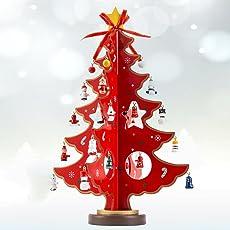 hotbesteu Weihnachtsbaum Holz Tannenbaum Kreatives Weihnachtsdeko Weihnachtsbaumschmuck DIY Weihnachten Haus Tisch Deko