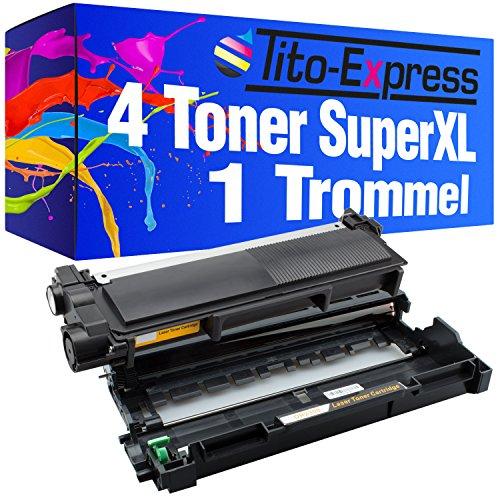 Kompatibel Toner-drum (Tito-Express PlatinumSerie 1 Drum & 4 Laser-Toner Super-XL als Ersatz für Brother DR-2300 & TN-2320 | Kompatibel mit HL-L2300D L2320D HL2321D L2340DW L2360DN L2360DW L2361DN L2365DW L2380DW)