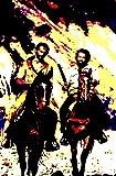 Bud Spencer und Terence Hill–Bild moderne handbemalt–Pop Art Effect (Format 40x 60cm)