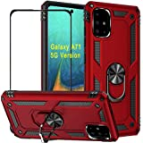 BTShare for Samsung Galaxy A71 (5G Version) Case & Tempered Glass Screen Protector, Rugged Anti-Scratch Shockproof Kickstand