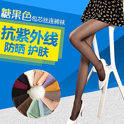 XiaoGao_ Sommer dünne farbige Strumpfhosen,Code:,12,Fleisch-Mahlzeit (Strumpfhosen Fleisch-farbige)